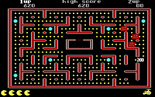 Jr. Pac-Man DOS Get 200 Points from Monster (EGA)
