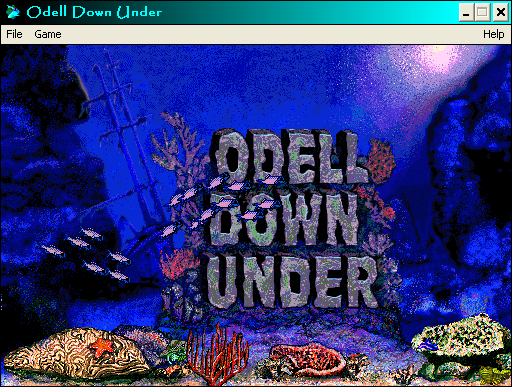 Odell Down Under Windows 3.x Open Screen with Fish