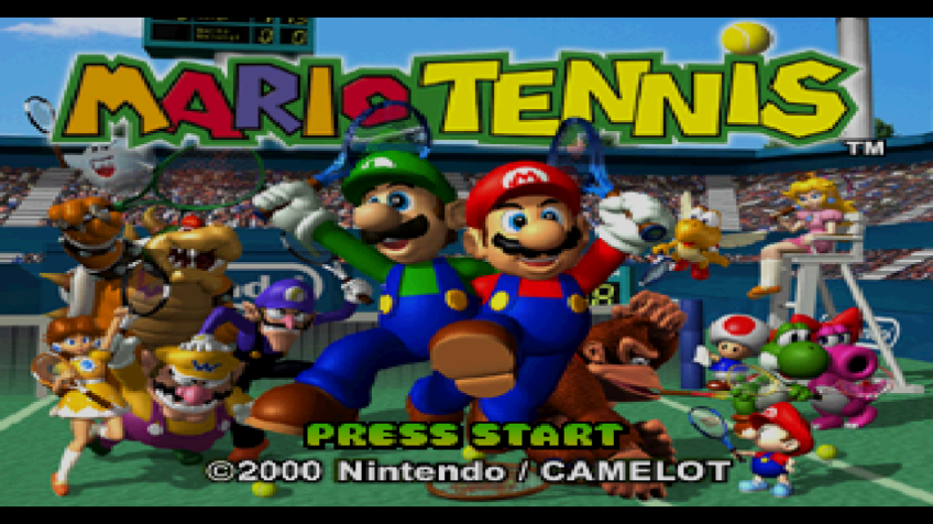 Mario Tennis Wii Title screen
