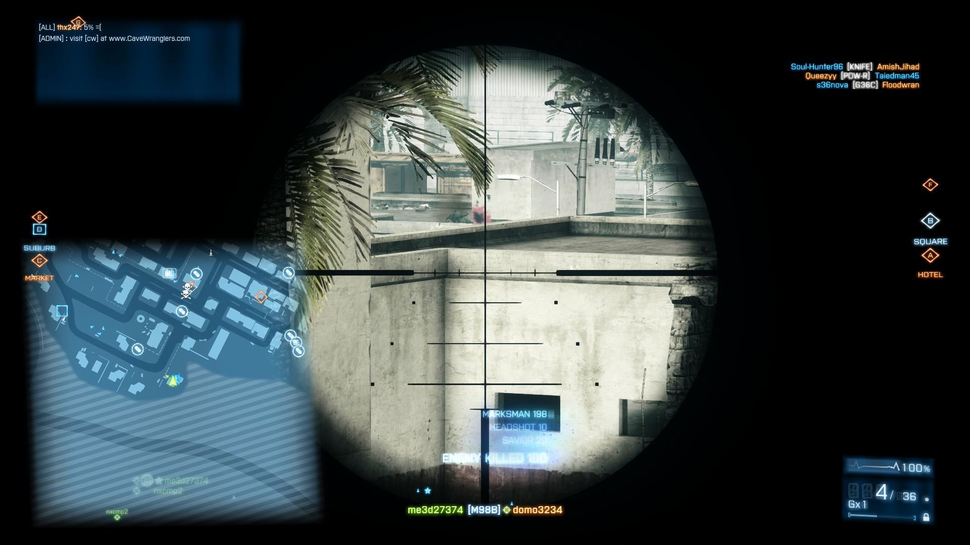 Battlefield 3: Back to Karkand Windows Another M98B Sniper shot - the new Karkand is a very clear environment allowing long range sniping