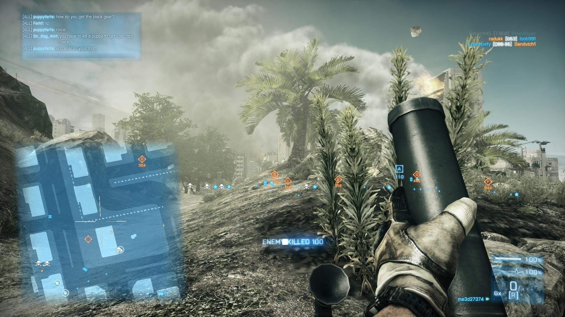 Battlefield 3: Back to Karkand Windows Using mortars to soften them up