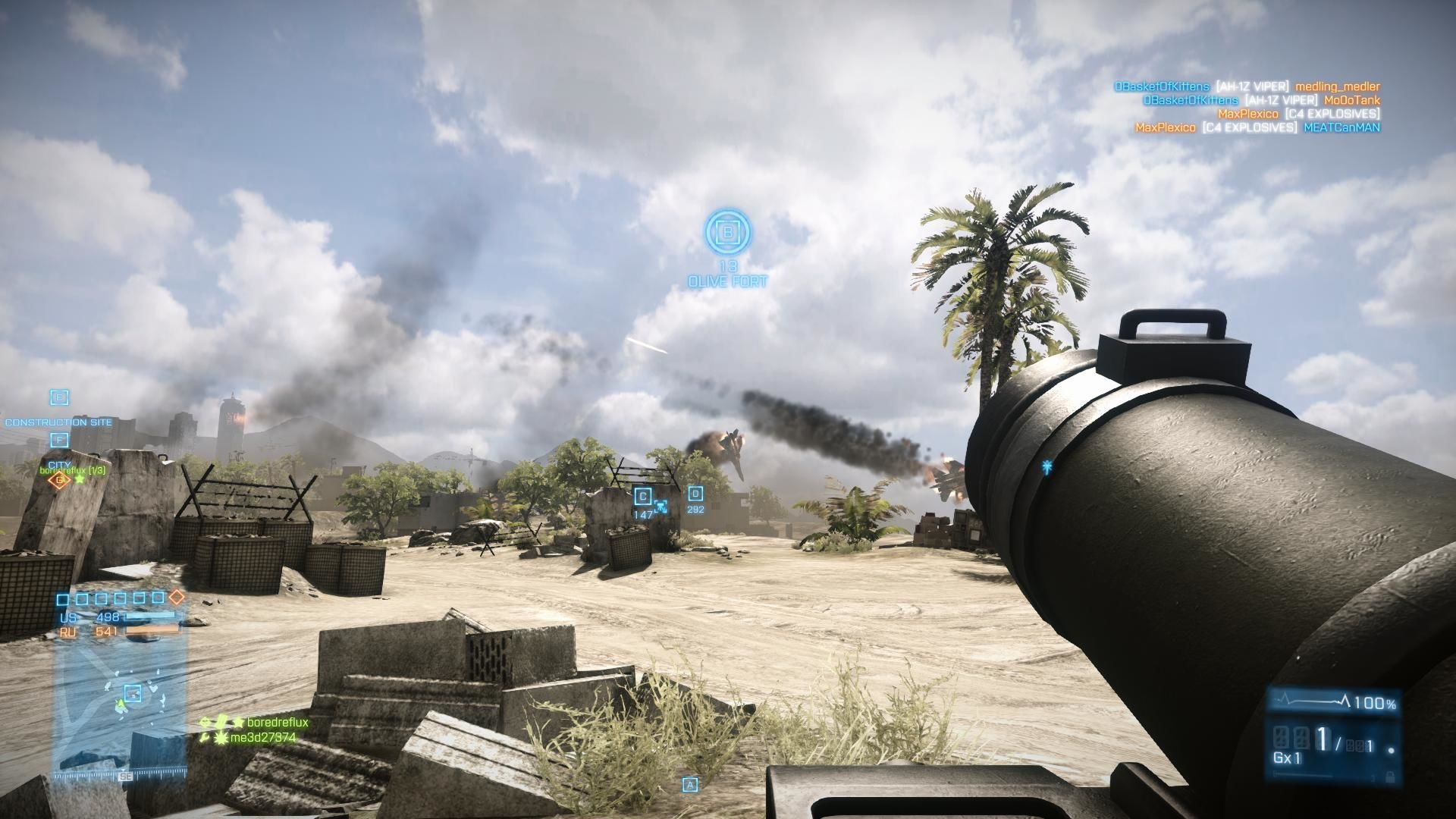 Battlefield 3: Back to Karkand Windows Two enemy jets collide