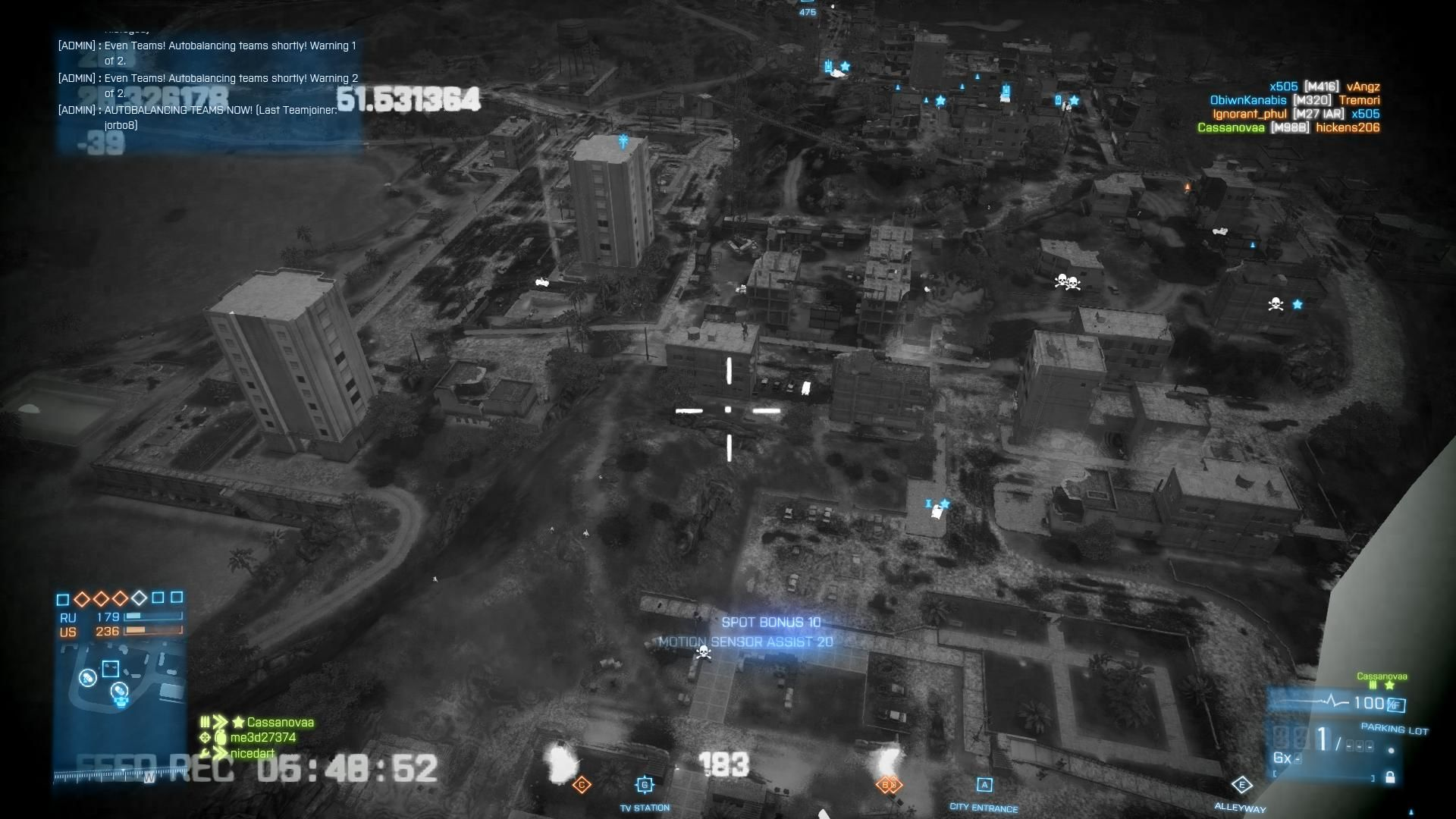 Battlefield 3: Back to Karkand Windows Using the Recon kit and MAV pointing out targets over Sharqi Peninsula map