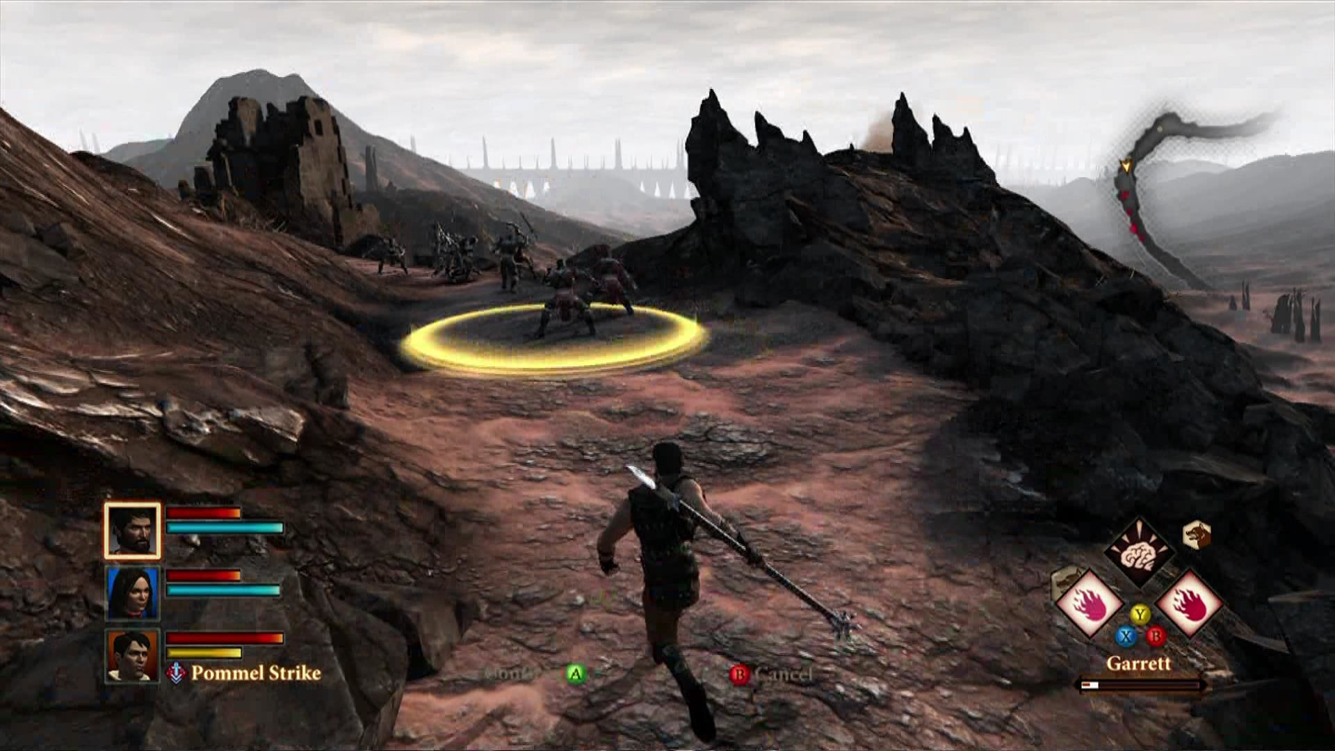 Dragon Age II Xbox 360 Targeting enemies for your spell
