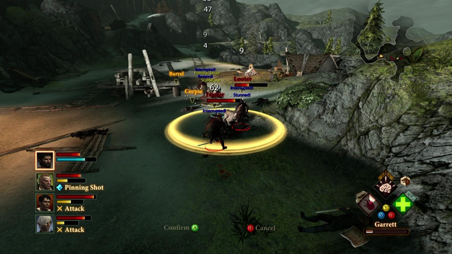 Dragon Age II Xbox 360 Your party in combat ... this can get somewhat confusing sometimes