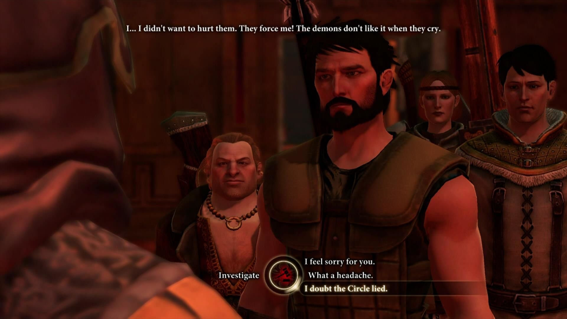 Dragon Age II Xbox 360 Dialogue options are similar to Mass Effect