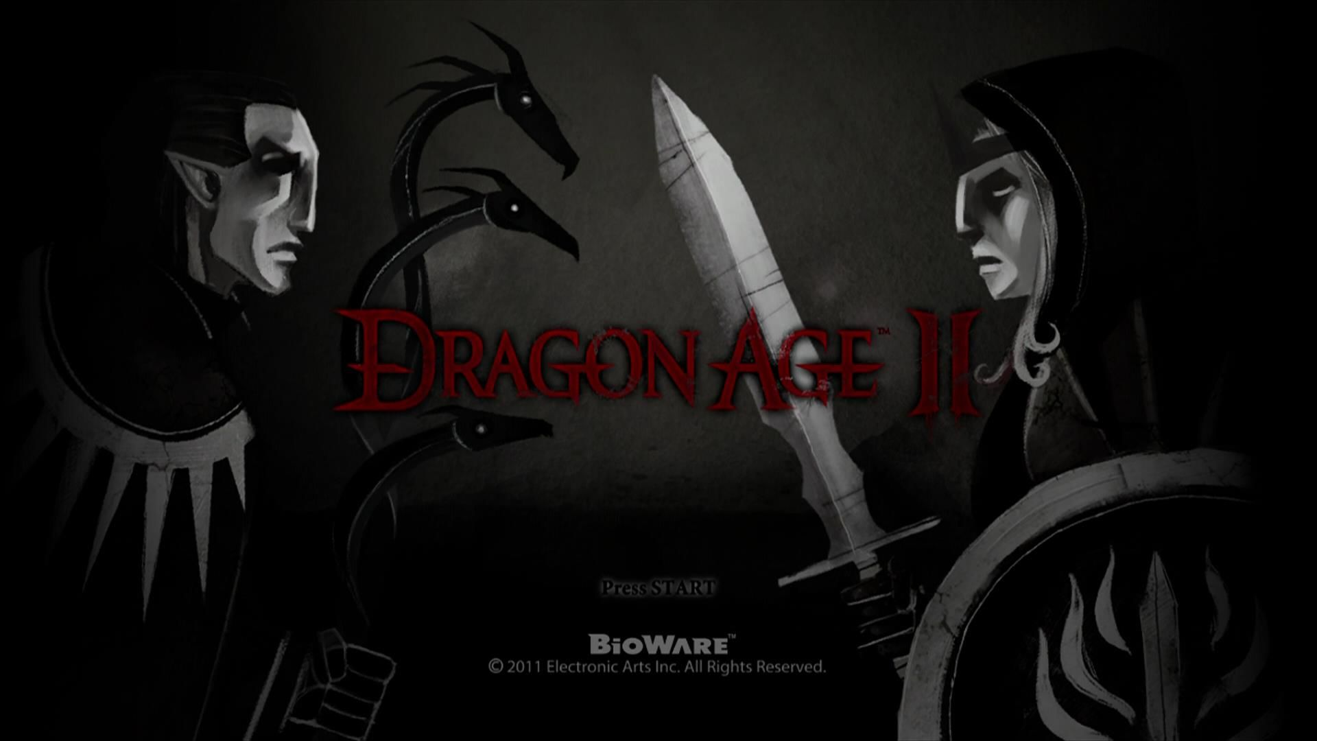 Dragon Age II Xbox 360 Title screen