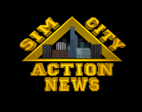 SimCity: Enhanced CD-ROM DOS News intro, a disaster has occurred, so the news channel is giving info about the disaster.