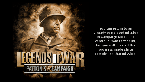 Legends of War: Patton's Campaign PSP Loading screen