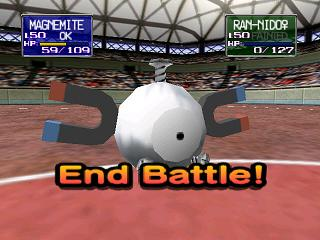 Pokémon Stadium Nintendo 64 End Battle!