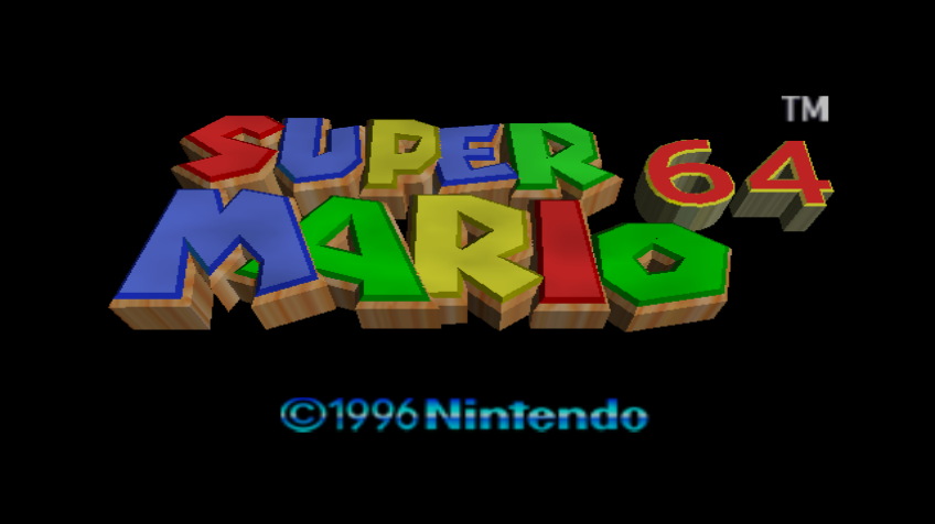 Super Mario 64 Wii Title screen