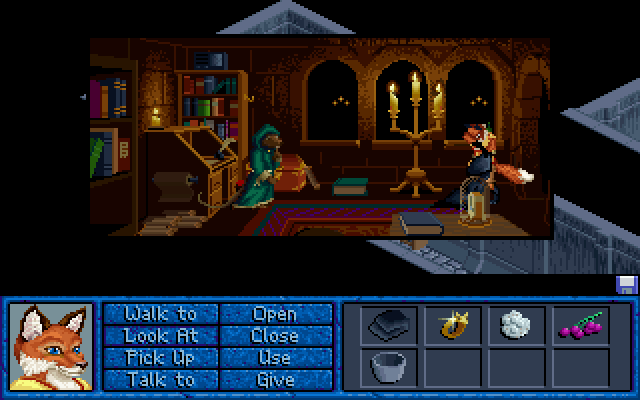 Inherit the Earth: Quest for the Orb DOS Sist is both clever and friendly and you can get very useful information from him.