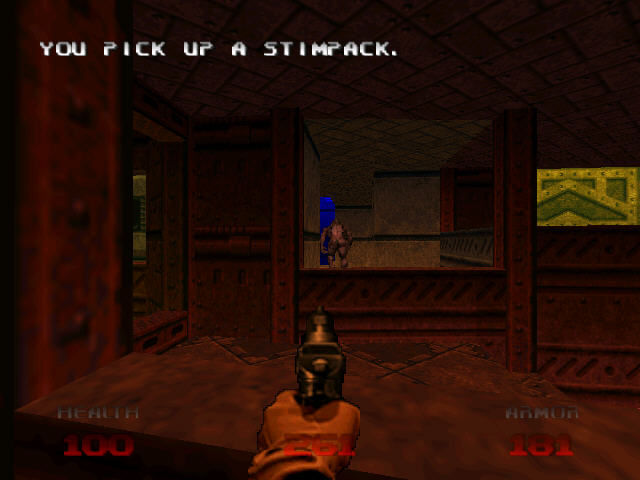 DOOM 64 Nintendo 64 Get stimpack and shoot the demon's back