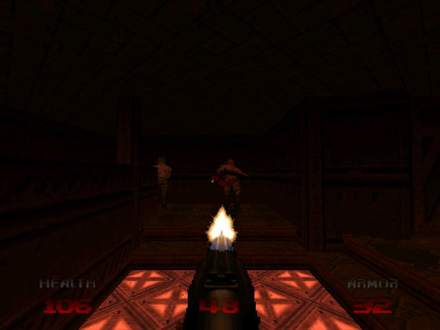 DOOM 64 Nintendo 64 Two zombies looking away? Time to double kill!