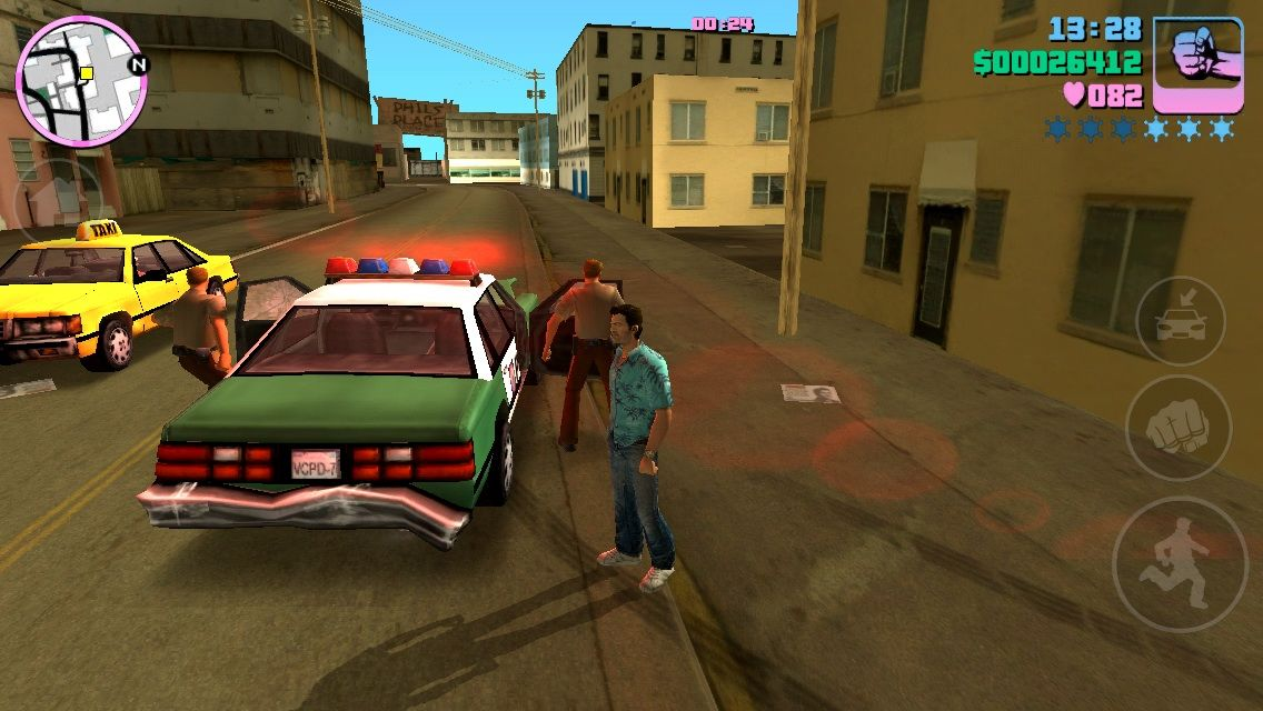 Grand Theft Auto: Vice City iPhone Police Rampage!!!
