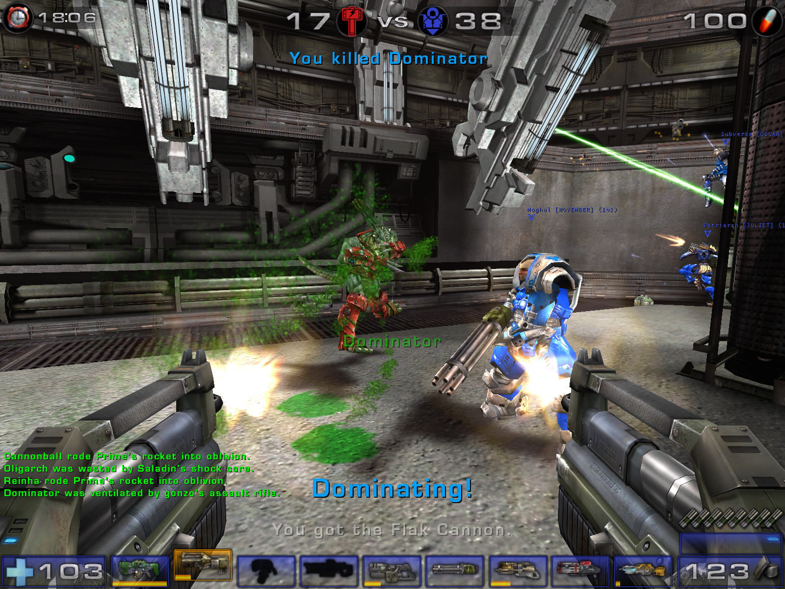 Unreal Tournament 2004 Windows Green blood fountain