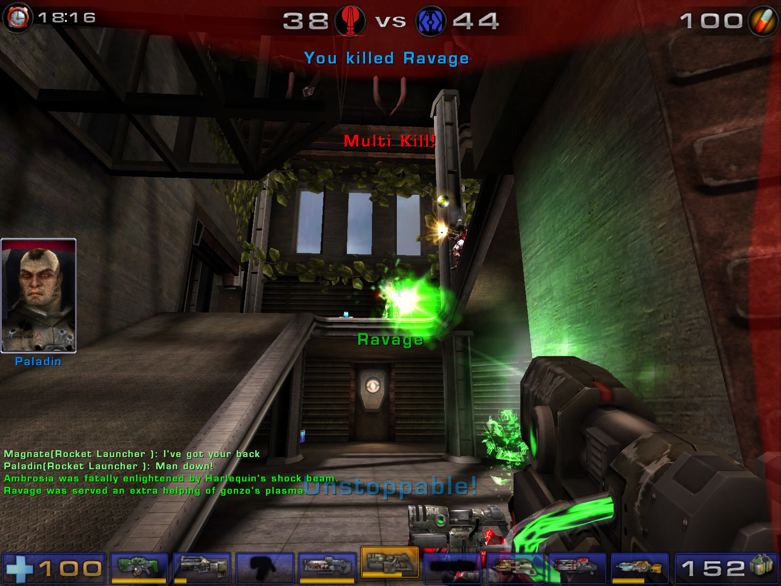 Unreal Tournament 2004 Windows next to kill