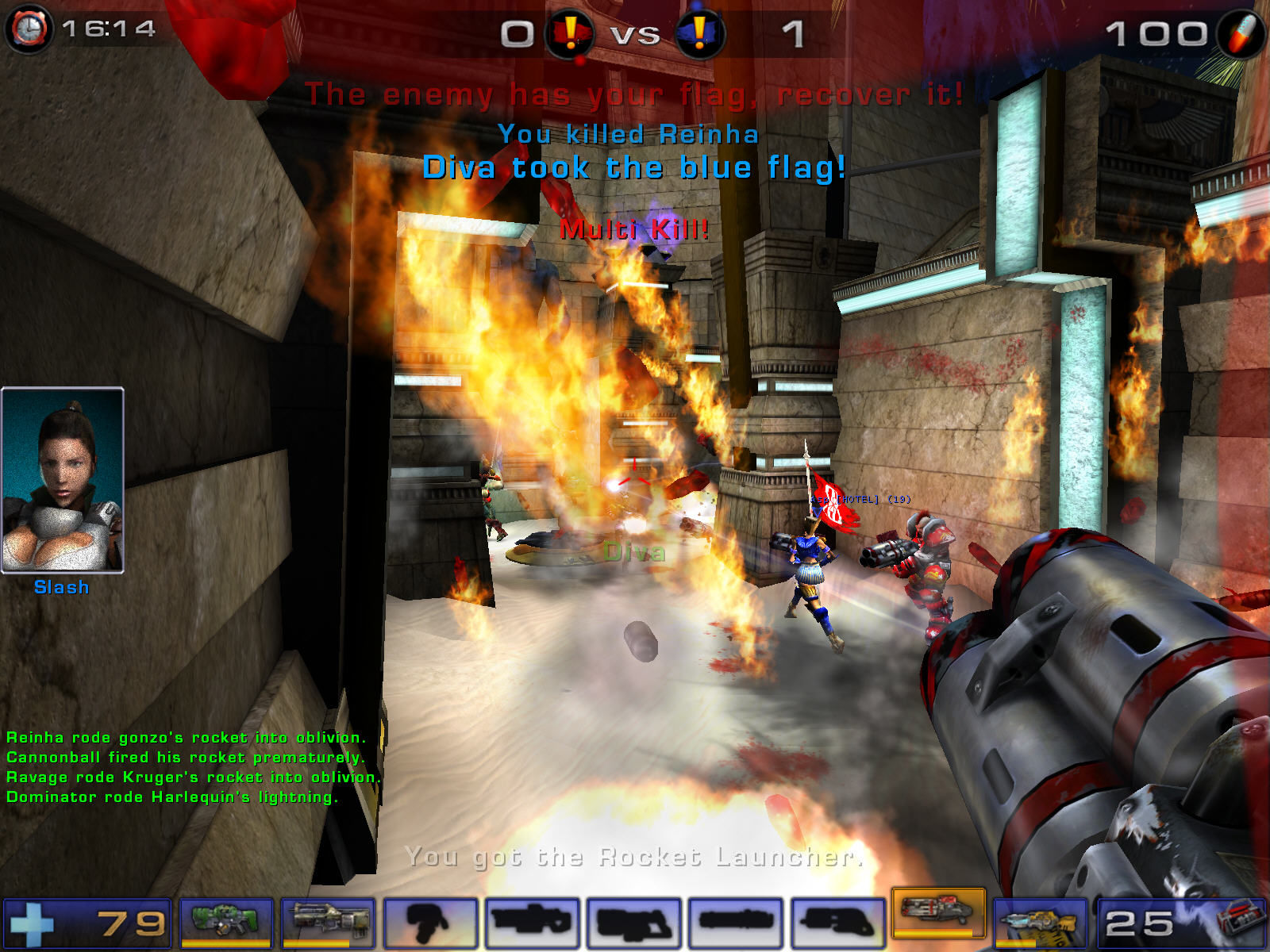 Unreal Tournament 2004 Windows Total mess with flag - i like it.