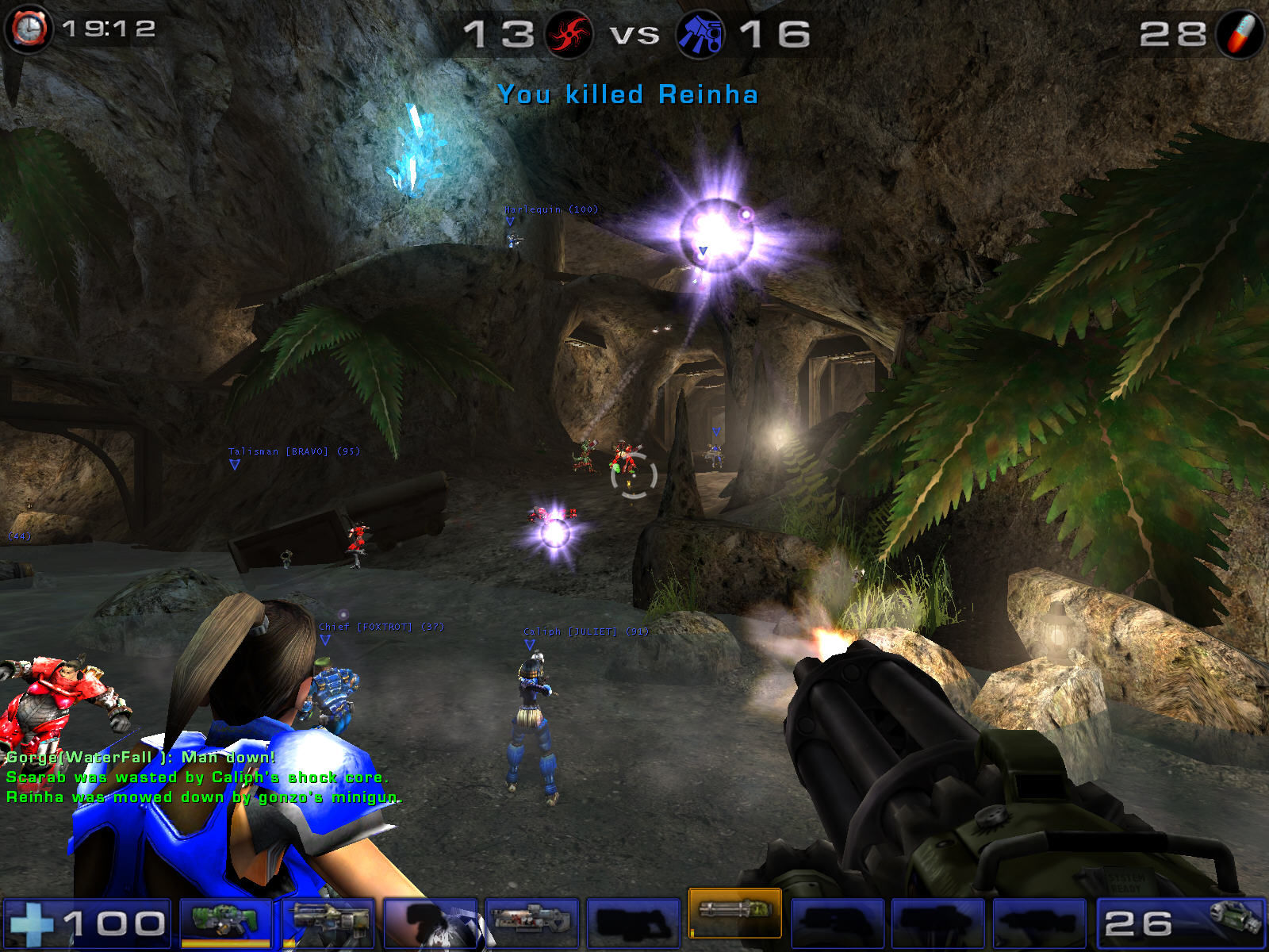 Unreal Tournament 2004 Windows Fight in cave
