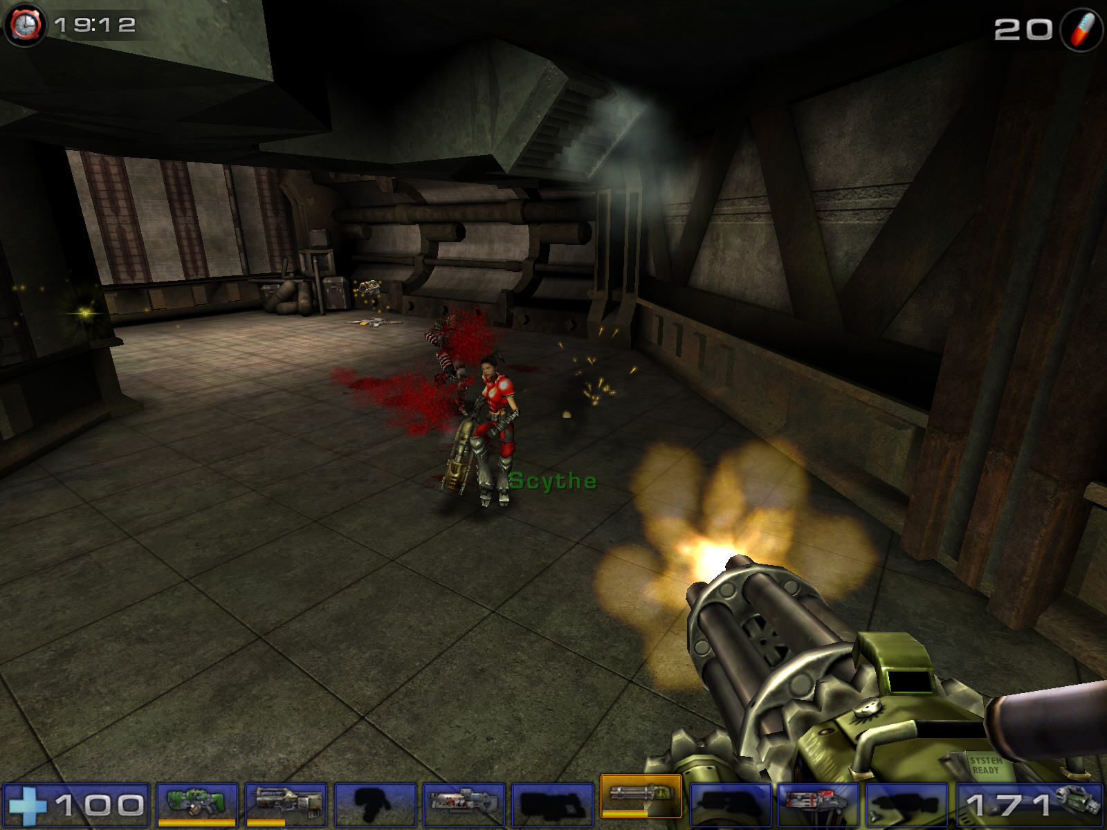 Unreal Tournament 2004 Windows minigun should help