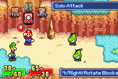 Mario & Luigi: Superstar Saga Game Boy Advance Solo attack