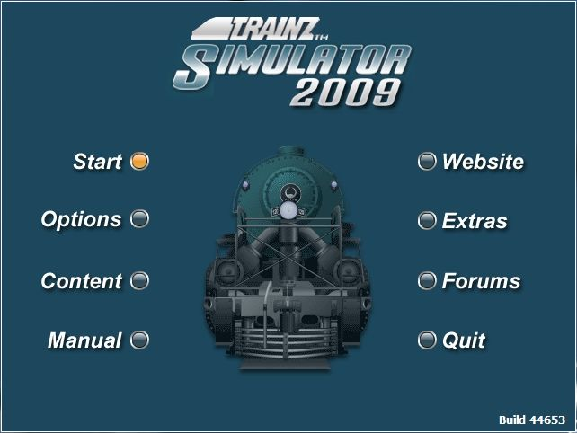 Trainz Simulator 2009: World Builder Edition Windows Trainz - top menu