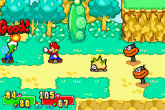 Mario & Luigi: Superstar Saga Game Boy Advance Bros. attack
