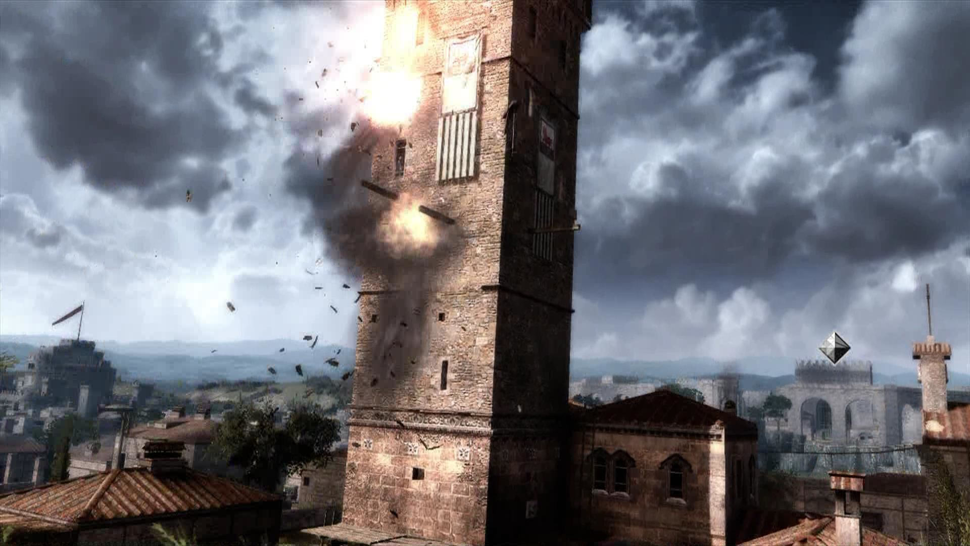 Assassin's Creed: Brotherhood Xbox 360 After you killed the officer, burn down the tower to send a signal