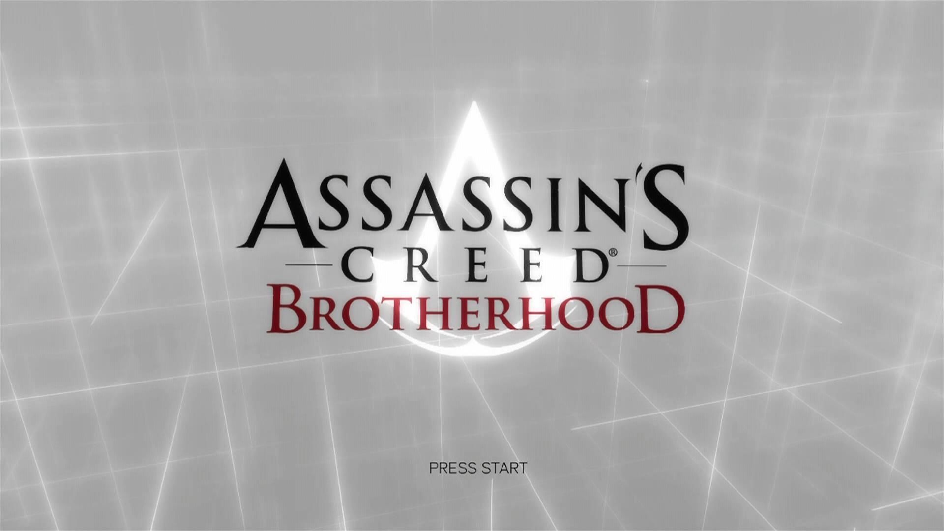 Assassin's Creed: Brotherhood Xbox 360 Title screen
