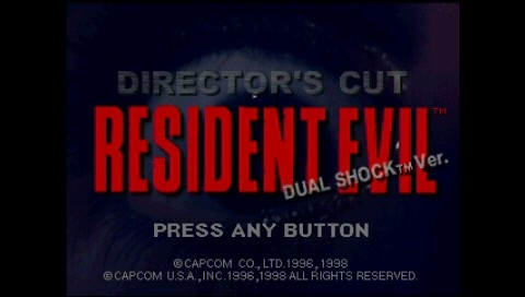 Resident Evil: Director's Cut PSP Title screen