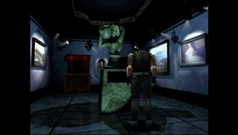 Resident Evil: Director's Cut PSP This room hides the first floor map