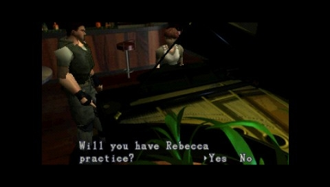 Resident Evil: Director's Cut PSP Rebecca plays Moonlight Sonata