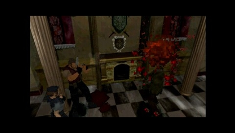 Resident Evil: Director's Cut PSP Barry is there to kill a zombie for Jill