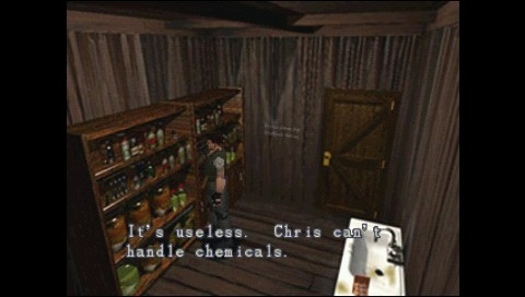 Resident Evil: Director's Cut PSP Oh, Chris