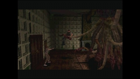 Resident Evil: Director's Cut PSP Rebecca rushes to free Chris