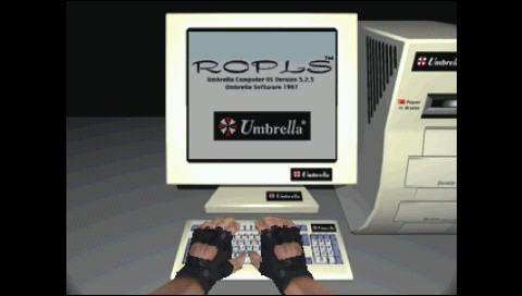 Resident Evil: Director's Cut PSP Hacking an Umbrella computer