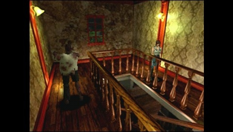Resident Evil: Director's Cut PSP Another Arrange mode camera angle