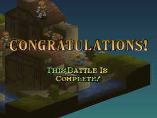 Final Fantasy Tactics PlayStation Battle won!