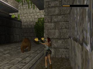 Tomb Raider PlayStation Kill the bear!