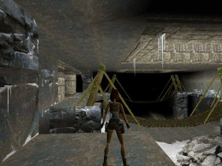 Tomb Raider PlayStation Ancient bridge