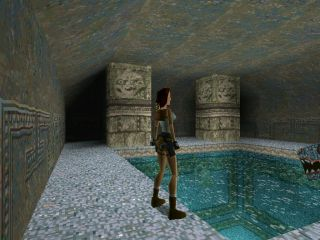 Tomb Raider PlayStation Underground swimming pool