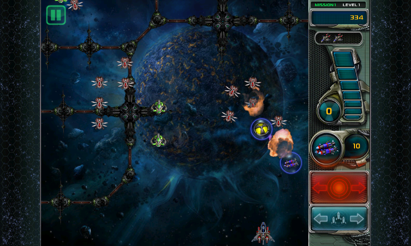 Star Defender III Android Power ups are dropped