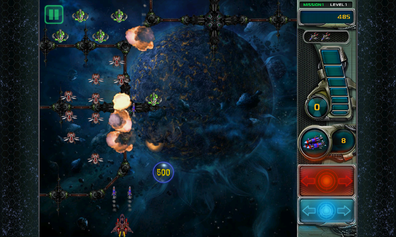 Star Defender III Android Using missiles