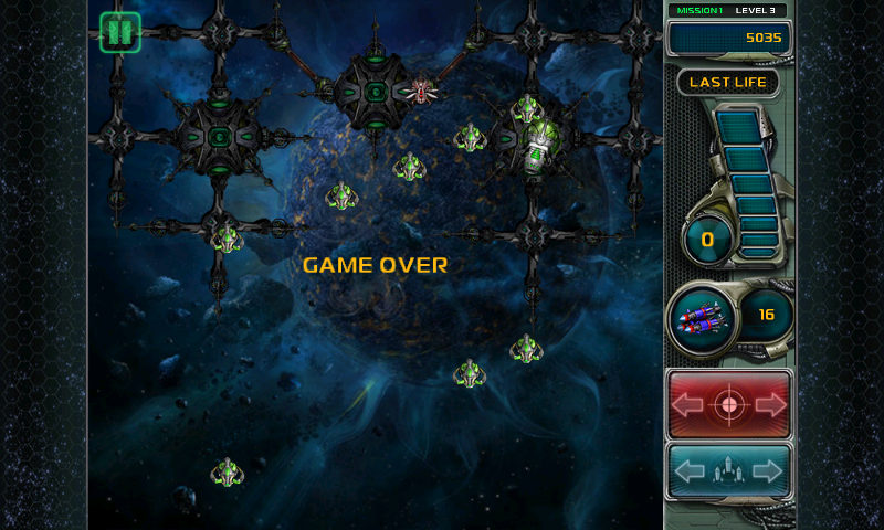 Star Defender III Android Game over
