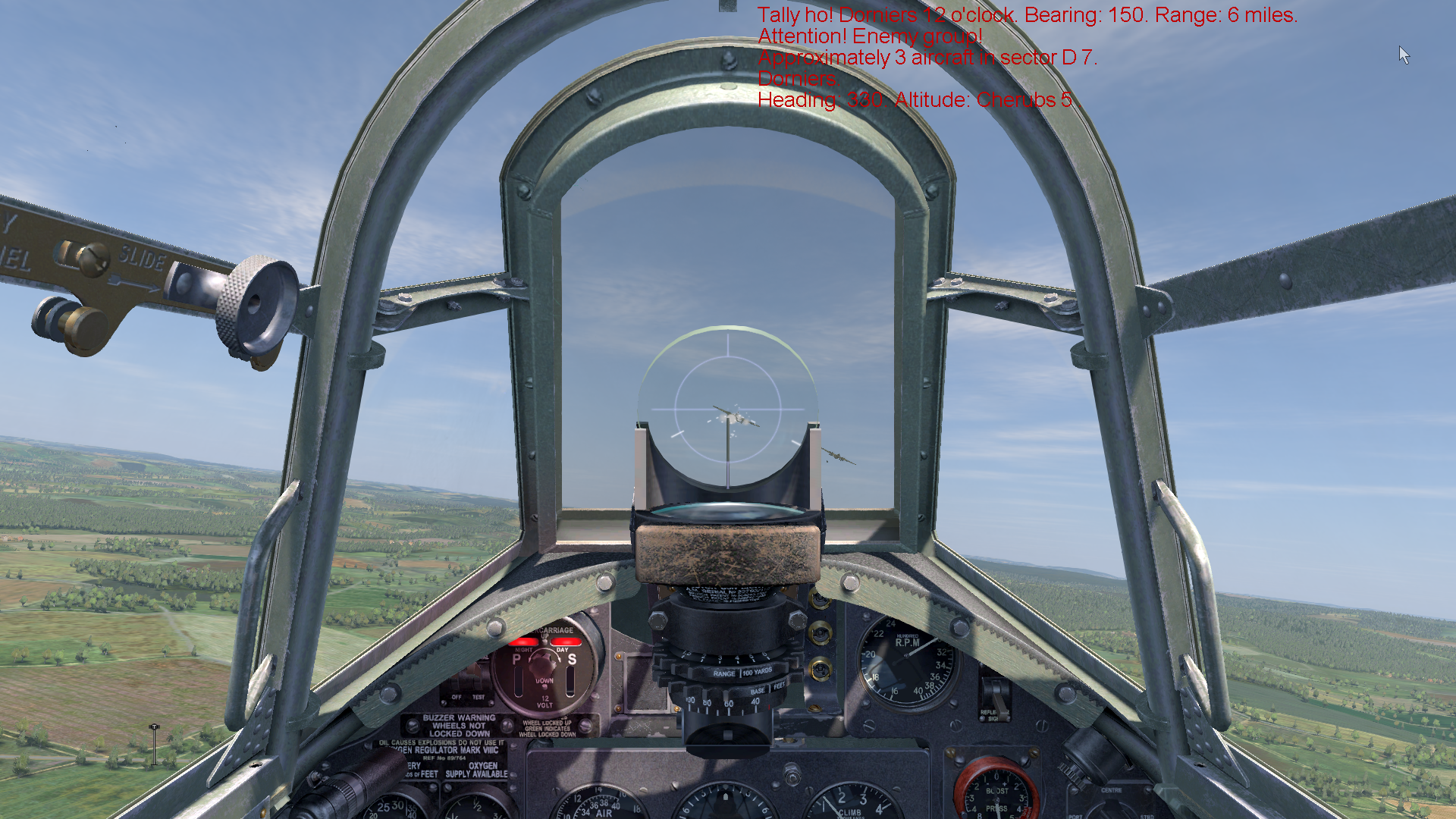 IL-2 Sturmovik: Cliffs of Dover Windows Intercepting a group of Do-215 bombers with my Hurricane.