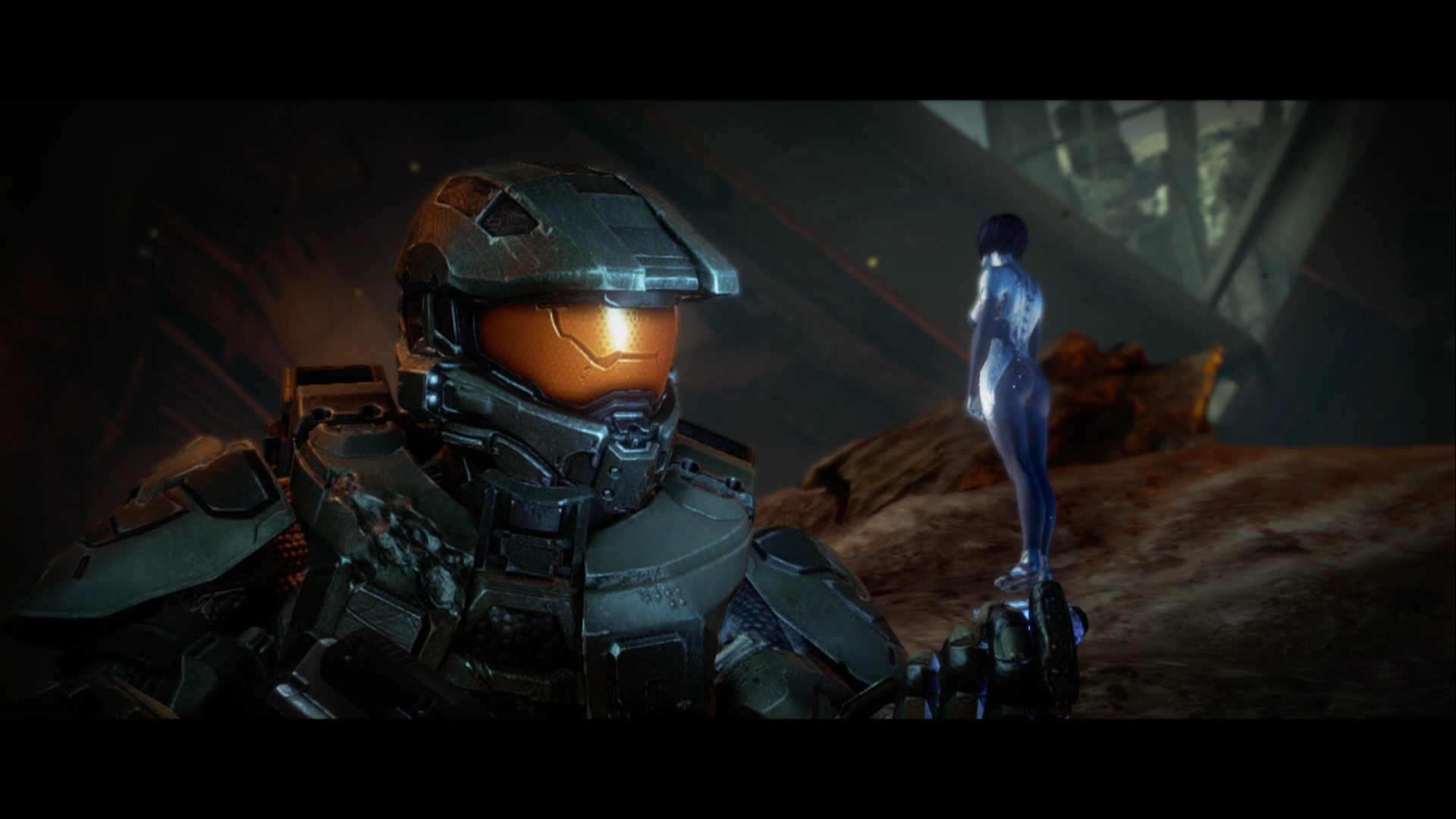 Halo 4 Xbox 360 Scene from the opening cinematic for the second campaign mission