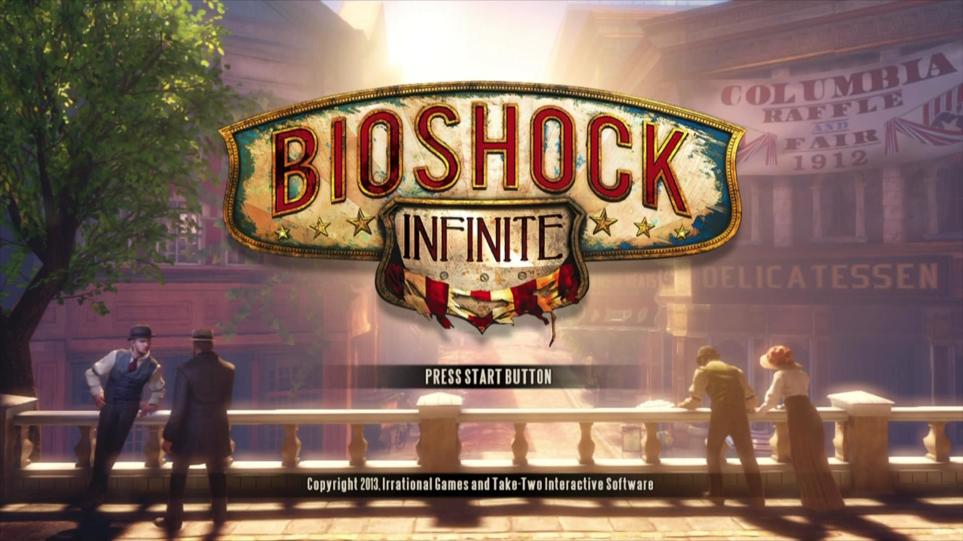 BioShock Infinite Xbox 360 Start screen