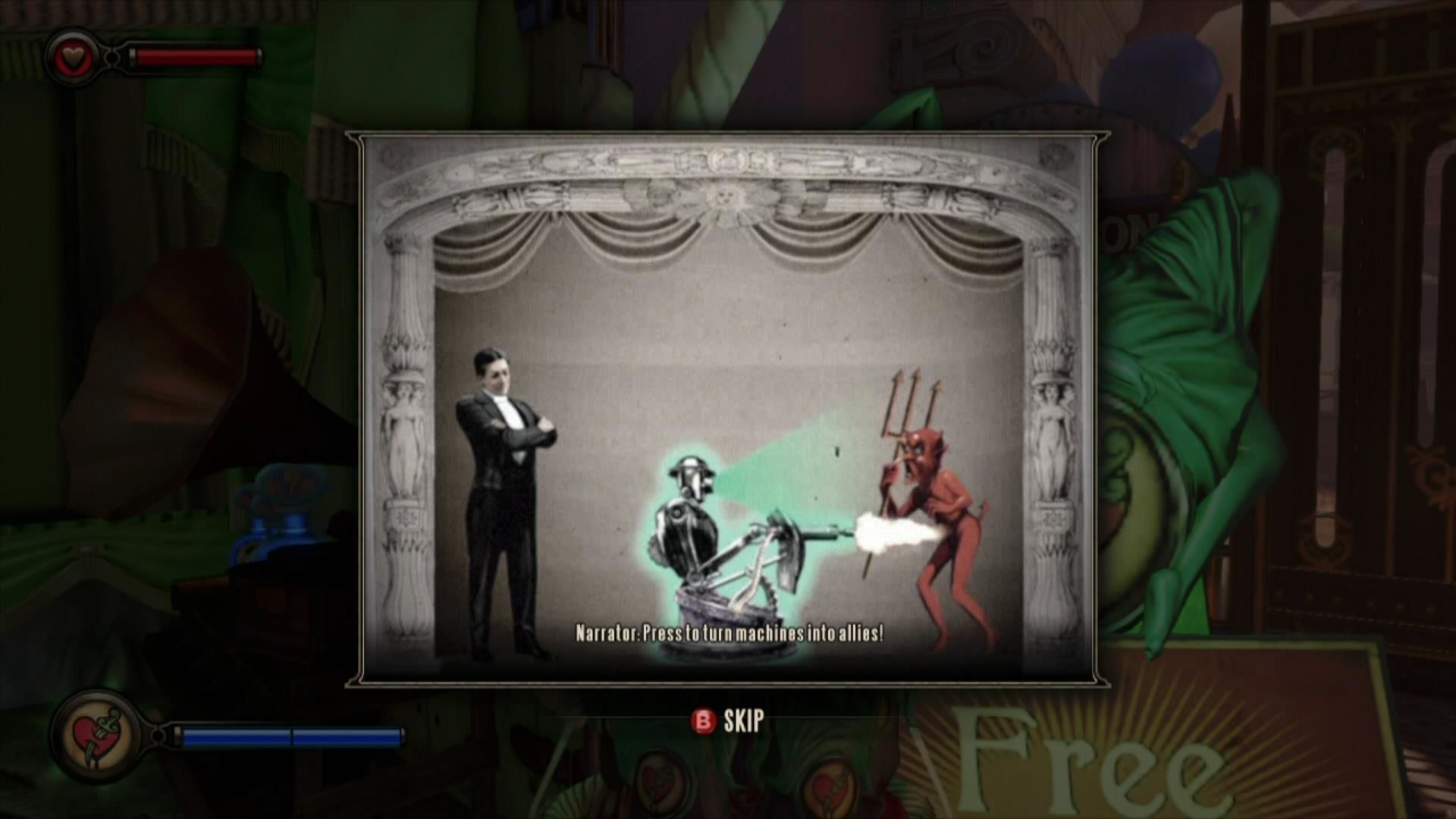 BioShock Infinite Xbox 360 Details about the vigors are explained in short movies.