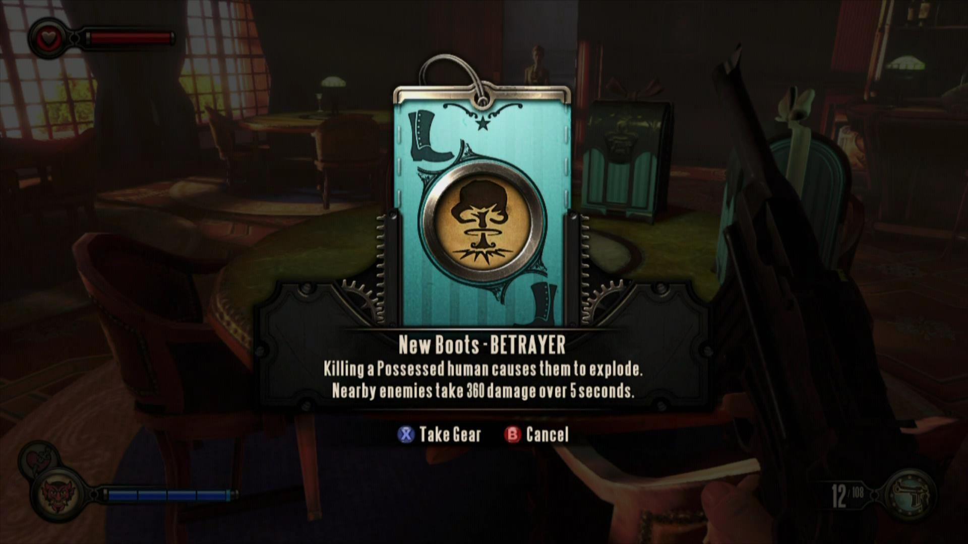 BioShock Infinite Xbox 360 Find gear to get perks.