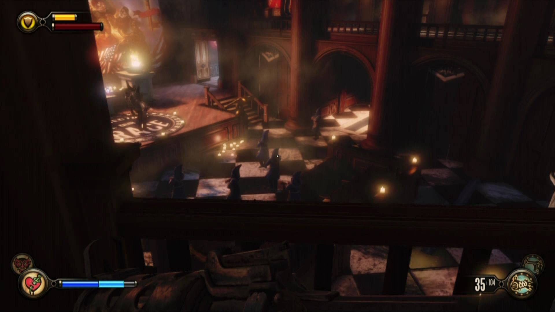 BioShock Infinite Xbox 360 Watch a very weird meeting with hooded figures